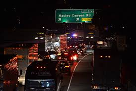 Sigalert Com Los Angeles Traffic Map by Big Rig Crash On 5 Freeway In Castaic Knocks Down Power Lines