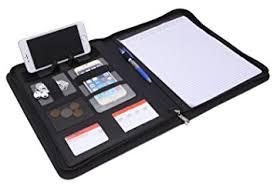 Resume Padfolio A4 Leather Conference Folder Portfolio Leather Document Holder