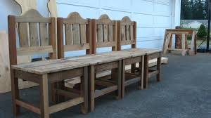 barnwood dining table chairs dream garden woodworks and 4 chairs