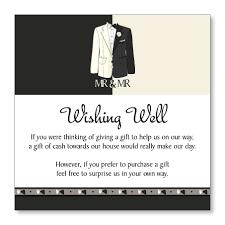 custom wedding registry words of wedding wishing well or gift registry cards custom