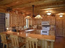 Log Cabin Kitchen Cabinets Kitchen Designs With Knotty Pine Cabinets Ideas Of The Best