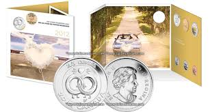 Wedding Gift Set Canada 2012 Wedding 6 Coin Gift Set With Wedding Rings Quarter