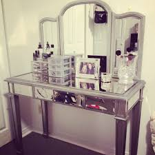Mirrored Vanity Set Furniture Makeup Table Walmart Mirrored Desk Target Lighted