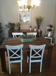 5ft harvest table and chairs in a jacobean stain dale sahaidak