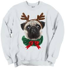 classic teaze funny cute pug holiday santa claus puppy ugly