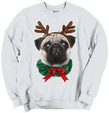 pug sweater teaze pug santa claus puppy