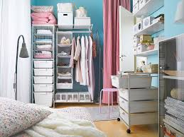 Small Bedroom Closet Storage Ideas Sleek Small Bedroom For Kids With White Twin Bed Feats Storage