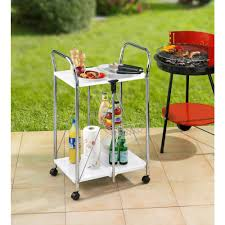 wenko dinette chrome kitchen cart 900030100 the home depot
