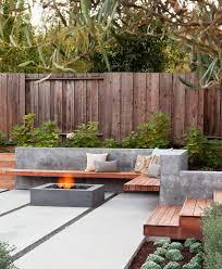 concrete patio designs patio contemporary with built in bench