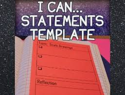i can statements template for interactive notebook free by idea galaxy