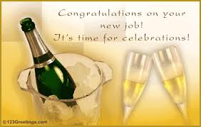 Congrats On New Job Card Warm Greetings And Wishes Congratulations Cards