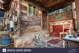wooden house in forest house made of materials stock