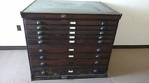 Wood Flat File Cabinet File Cabinet Flat Collection On Ebay