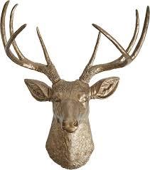 deer head gabriel deer head wall décor reviews joss main