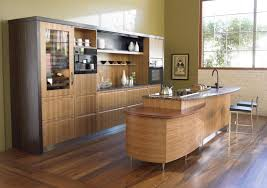 Eat In Kitchen Island Designs Interesting Brown Color Bamboo Kitchen Island Featuring Single