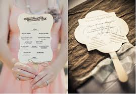 ceremony fans sheet how to put together wedding ceremony programs