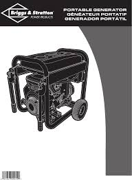 briggs u0026 stratton portable generator pro8000 01934 user guide
