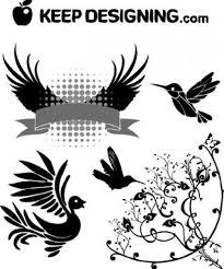 vector free clip bird wings design vectors vector