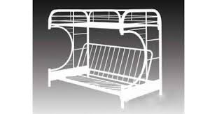Bedroom White Metal Futon Bunk Bed Instructions Tamingthesat - White futon bunk bed