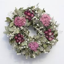 hydrangea wreath dried flower hydrangea wreath the wreath depot