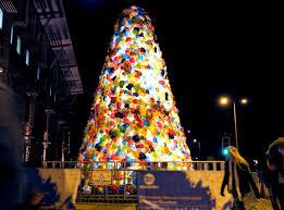 consumerist christmas tree by luzinterruptus inhabitat u2013 green