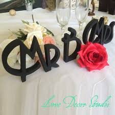 mr mrs wedding table decorations online shop mr mrs wedding table signs for sweetheart table decor