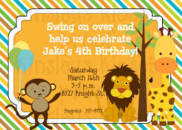 jungle party invitation jungle birthday party invitation