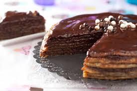 recette de cuisine gateau recette de gâteau de crêpes au chocolat facile et rapide
