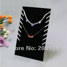 necklace bracelet display images 2pcs black velvet multirow necklace displays stands jewelry jpg