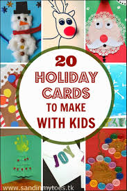 20 holiday cards to make with kids sand in my toes