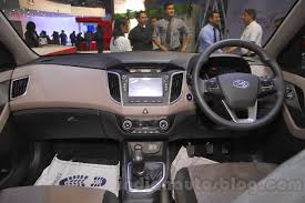 land rover nepal hyundai creta dashboard at nepal auto show 2015 indian autos blog