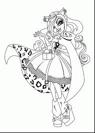 excellent monster high coloring pages with clawdeen wolf coloring