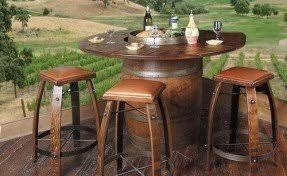 Wine Barrel Patio Table Pub Table Outdoor Foter