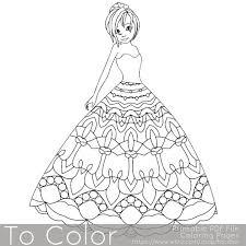 mandala princess coloring pages adults coloring