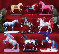 trail of painted ponies set of 4 2011 ornaments tins painted