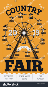 beautiful country state fair vector poster stock vector 307489193