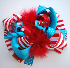 boutique bows boutique funky big cat hat hair bow clip