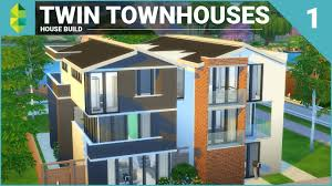 Twin Home Plans The Sims 4 House Building Twin Townhouses Part 1 Youtube