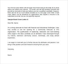 format for email cover letter 28 images 7 letter sle in email
