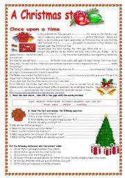 worksheet a christmas story