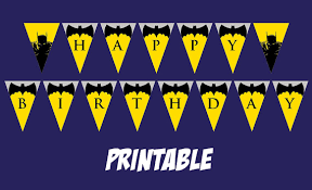 printable batman happy birthday banner superhero party