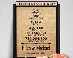 25 wedding anniversary gift 25th anniversary etsy