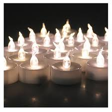 led pumpkin tea lights 12 pcs cool white glow votive candle mini battery operated powered