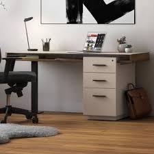 corner desk with file cabinet wayfair