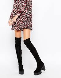 womens boots uk asos imagen 1 de botas por encima de la rodilla ka pow de asos wish