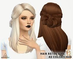cc hair for sism4 my sims 4 blog hair buns updos more pinterest hair buns sim