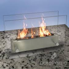 pureflame glass fire tabletop ethanol fireplace perfect fire pits
