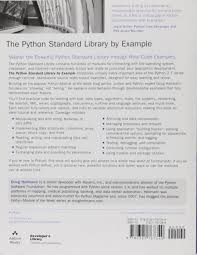 Modulk He The Python Standard Library By Example Developer U0027s Library Amazon