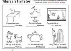 worksheets for kids u0026 free printables prepositions pinterest