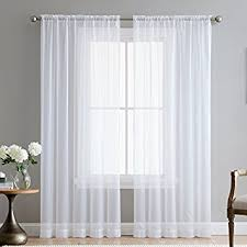 Two Curtains In One Window Amazon Com Hlc Me White 54